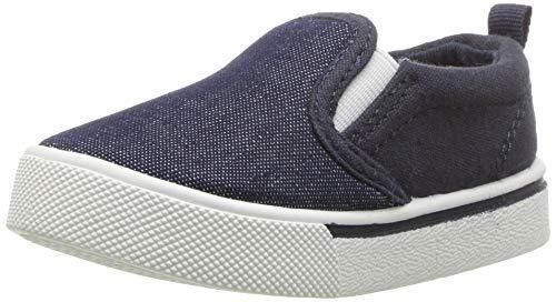OshKosh B'Gosh Boys' Austin Sneaker, New Navy, 13 M US Little - On Slip Boys