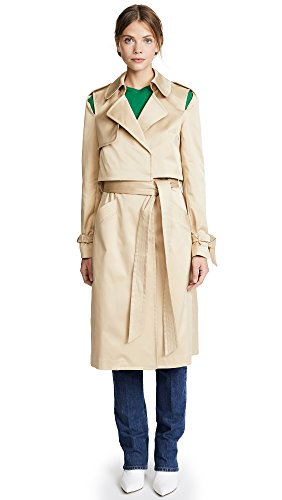 Repellent Duchesse Trench Coat, Khaki, Small (Milly Womens Coat)