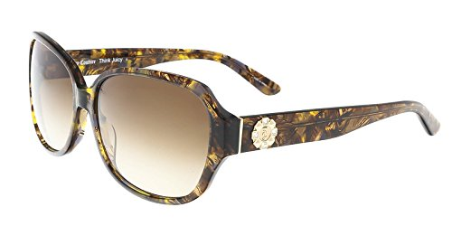 (Juicy Couture - Juicy 591/S 0YL3 Brown Crystal Rectangle Sunglasses )