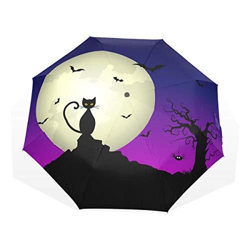 Mr.Lucien Halloween Night Full Moon Black Cat Tree