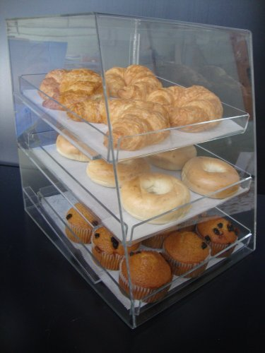 Acrylic Pastry Bakery Donuts Cupcake Display Case with Tr...