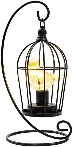 JHY DESIGN Bombilla para jaula de pájaros Lámpara decorativa Luz inalámbrica con batería