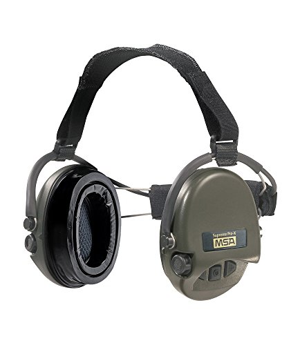 - MSA Sordin Supreme Pro X with green cups - Neckband - Electronic Earmuff equipped with comfortable ear-seals, slim-design