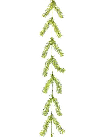 10' Pine Work Garland x44 Lime Green (Pack of 24) by Silk Decor (Image #1)