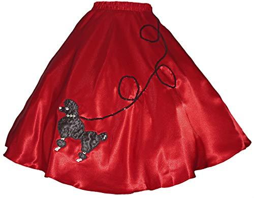 (3 BIG NOTES - Adult SATIN Poodle Skirt Size Large (35