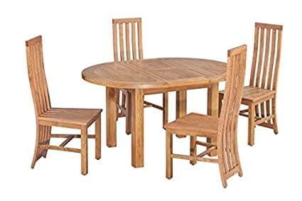 Amazon Trithi Furniture Toronto American Solid Oak Oval New Dining Room Table Toronto