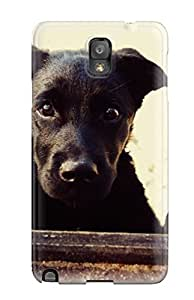 Galaxy Note 3 Cover Case - Eco-friendly Packaging(cute Black Dog)