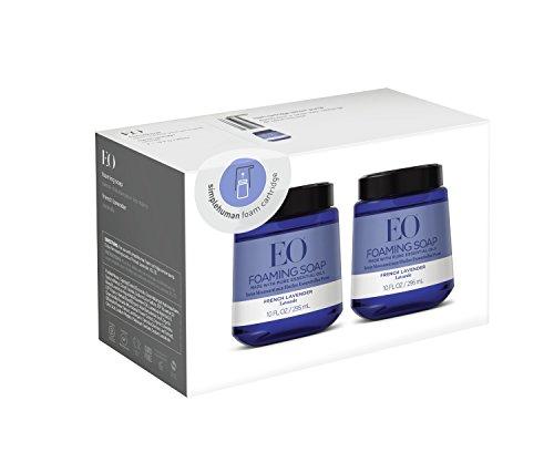 EO French Lavender Foam Hand Soap, 10 Fl. Oz. Foam Cartridges (2 pack)