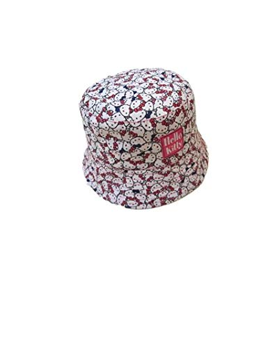 Kid Girl Bucket Hat Hello Kitty Toddler Cute Holiday Spring Beach Cap Sun-Protection (Fit for -
