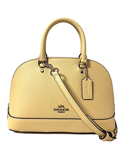 COACH MINI SIERRA SATCHEL IN CROSSGRAIN LEATHER F37217 (SV/Vanilla) Coach Handbag Outlet