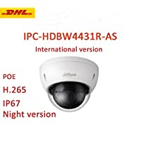Dahua Network Camera HDBW4431R-AS 3.6mm 4MP IR Mini IP Camera H.265 PoE IP67 ONVIF Night Vision Dome Camera Support International Version