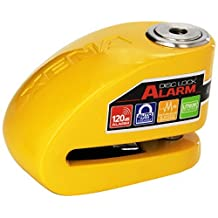 XENA (XX10-Y) Disc-Lock Alarm for Motorcycle , Yellow, Steel by Xena