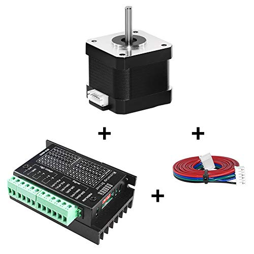 Twotrees Nema 17 Stepper Motor + Stepper Motor Driver, TB6600 4A 9-42V Nema 17/23 CNC Controller Single Axes Hybrid - Upgraded Version