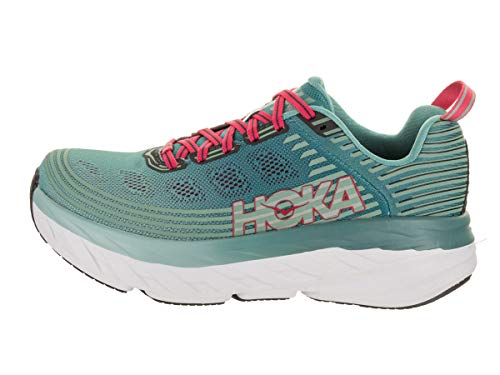 HOKA ONE ONE Womens Bondi 6 Canton Green Blue Slate Running Shoe