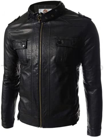 Faam Collection Amazing Black Statement Lambskin Leather Trendy Jacket for Men