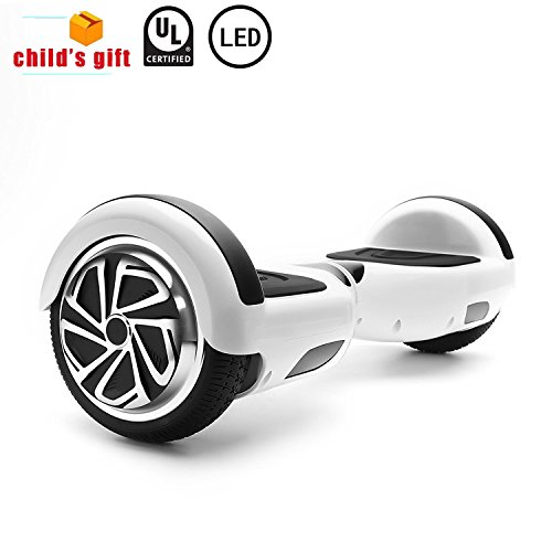 CXM2018 Hoverboard UL 2272 Certified 6.5″ Two Wheel Electric Self Balancing Scooter with LED Light for Kids and Adults