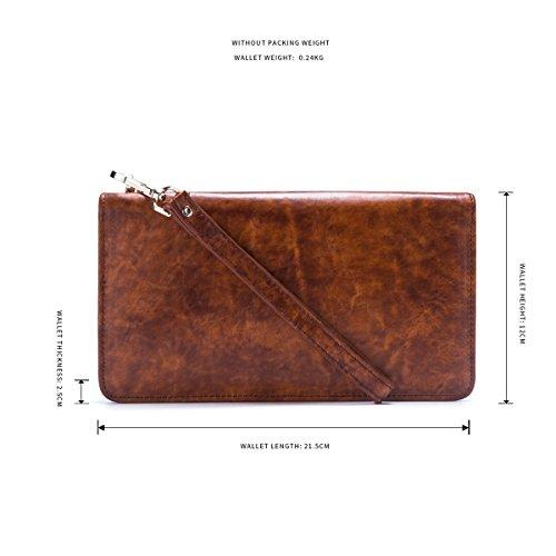 JOYIR - Bolso bandolera  Hombre marrón marrón 9D*10L*2H marrón
