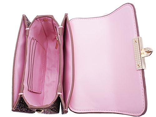 Bag Clutch Small Bag Women Purse Shoulder Glitter for Crossbody Chain Evening Pink Purse wqpAYxPPa