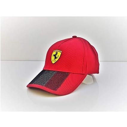 Ferrari Tricolore - Gorra para Hombre, Color Rojo: Amazon.es ...