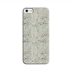 Cover It Up - Brown Cyan Pebbles Mosaic iPhone SE Hard Case