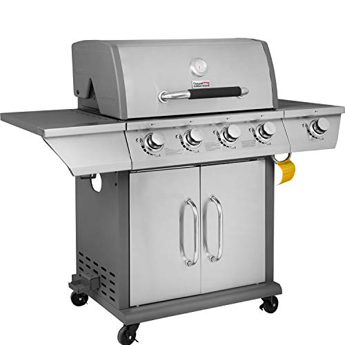 Royal Gourmet GG4302S 4 Propane Gas Grill with Side Burner, 57,000BTU, Stainless Steel
