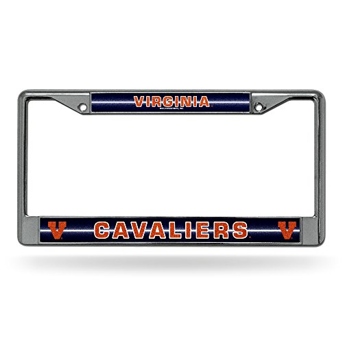- Rico NCAA Virginia Cavaliers Bling Chrome License Plate Frame with Glitter Accent