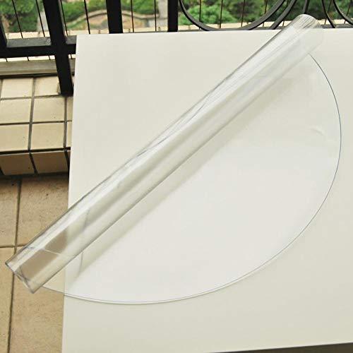 Transparent 140cm Diameter JKHSZKHH Le PVC nappePvc Table Ronde Tissu Transparent Nappes Imperméables Kitchen Pattern Huile Cover Glass Soft Cloth Nappe 140cm Diamètre Transparent