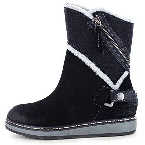 WHITE MOUNTAIN Womens Teague Closed Toe Mid-Calf Cold Weather, Black, Size 5.5