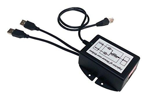 Tycon Systems TP-DCDC-2USB-48 USB Powered 24V Passive POE Inserter - 48V DC by Tycon Power Systems