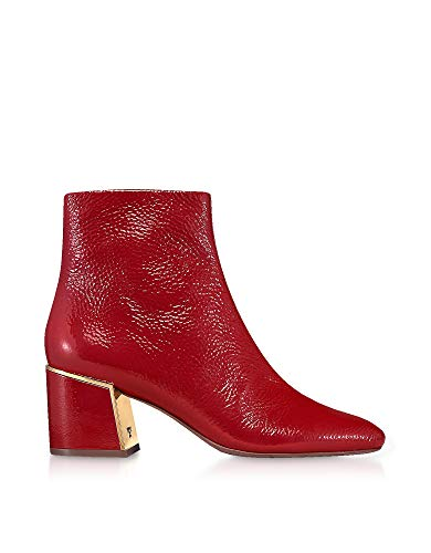 Burch Bordeaux Cuir Femme 49711601 Tory Bottines Yxqwa4YdW
