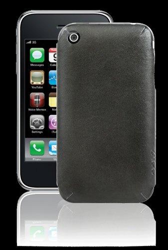 ZAGG LEATHERskin Coque pour iPhone 3G/3GS Noir lisse