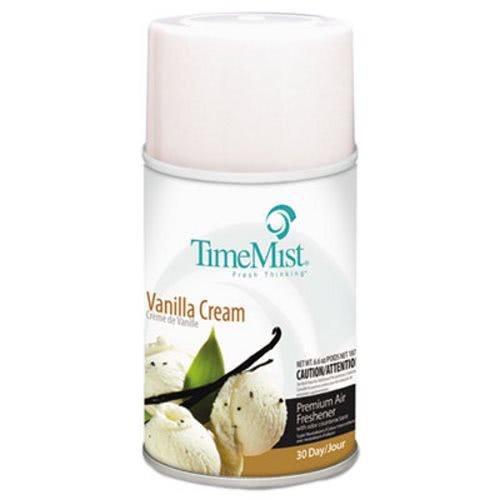 TimeMist Metered Aerosol Fragrance Dispenser Refills, Vanilla Cream, 6.6oz - 12 aerosol air freshener refills. ()