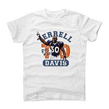 Terrell Davis Arch B Denver Throwbacks Kids T-Shirt by 500 LEVEL