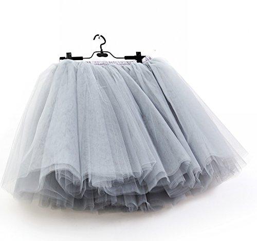 Scfl Half Slip Balletto Petticoat Grigio Donna Tutu Gonna Underskirt r0zq4rAaw