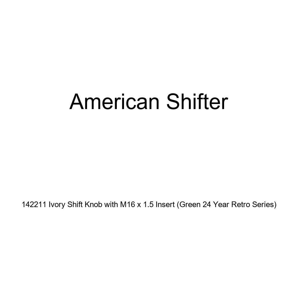 American Shifter 142211 Ivory Shift Knob with M16 x 1.5 Insert Green 24 Year Retro Series