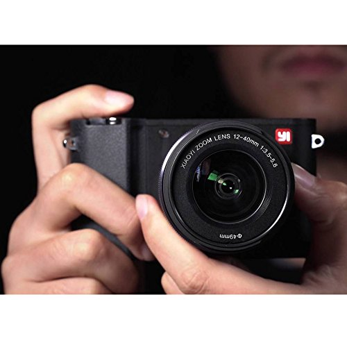 YI 4K Video 20 MP Mirrorless Digital Camera with LCD Touchscreen, Wi-Fi, Bluetooth, Interchangeable Lens 12-40mm F3.5-5.6 – Black