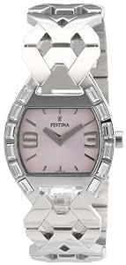 Festina F16548/2 - Reloj analógico de cuarzo para mujer con correa de acero inoxidable, color plateado