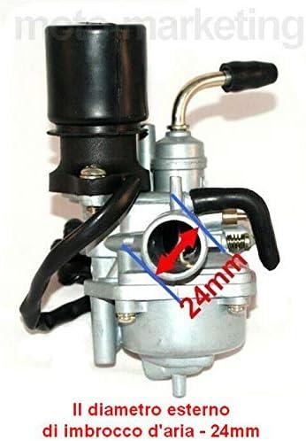 Unbranded CARBURATORE 12mm Starter Automatico per Aprilia Habana Custom Retro 2TEMPI 50