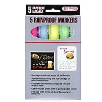 Chef-Master Rain Proof Markers 5 marcadores en paquete