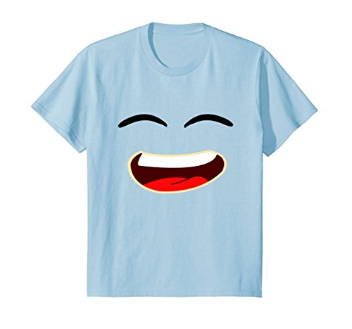 Kids Jelly T-shirt for Kids & Adults Smiley Face 6 Baby Blue (Smiley Face Baby)