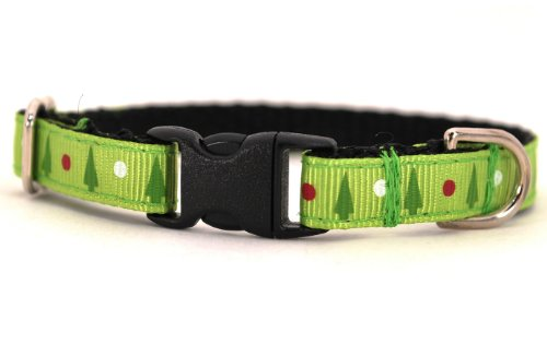 Christmas Tree Holiday Cat Collar: Large 7-12″, 3/8″ wide, My Pet Supplies