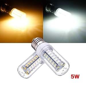 E27 5W White/Warm White 5730 SMD 48 LED Corn Light Bulb 220V