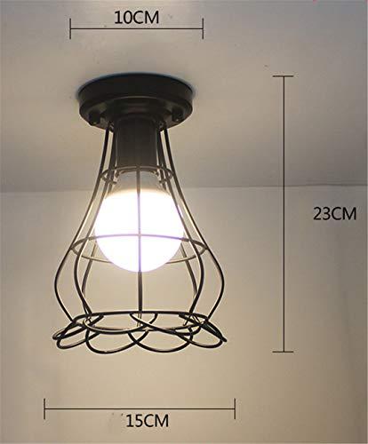 T-Tonranp Plafonniers Vintage Lustre LED Plafonnier Loft Fer Cage Fixtures éclairage à La Maison pour Le Salon 23