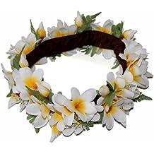The White and Yellow Hawaii Plumeria Headband-haku lei