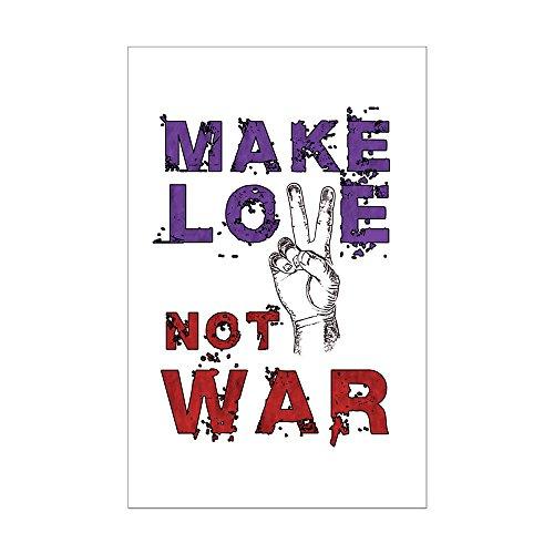 CafePress - Make Love Not War - Mini Poster Print