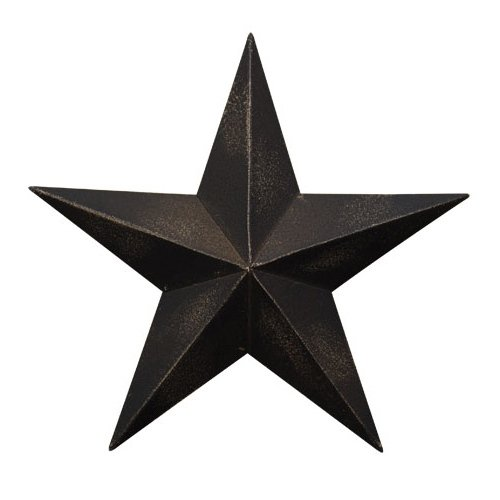 Country Charm Candle (CWI Gifts 4-Piece Barn Star Wall Décor Set, 5.5-Inch, Antique Black)