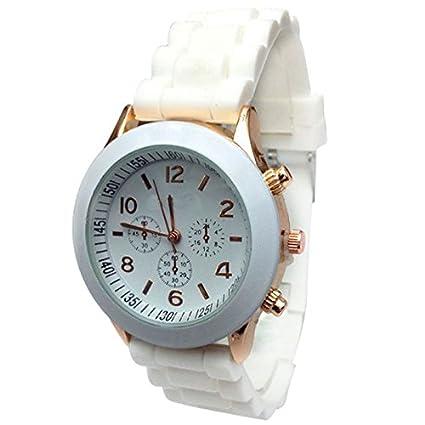 Vovotrade baratos silicona banda reloj de pulsera de cuarzo jalea para mujer / señora / chica