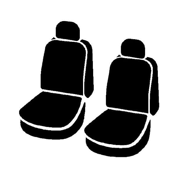 Fia TRS401 Solid Black Cover Semi-Car Front Bucket Seats//Polypropylene