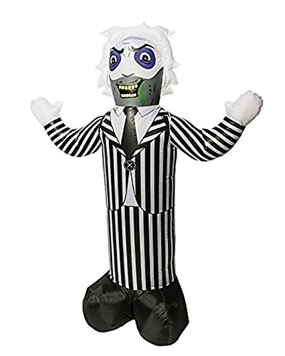 Gemmy Airblown Inflatable Beetlejuice - Indoor Outdoor Holiday Decoration, 7-foot Tall