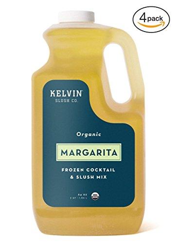 KelvinOrganic Frozen Cocktail & Slush Mix (Margarita) – CASE 4 x 64 oz –Award-WinningSlush Machine & Blender Mix, Bars, Restaurants, At Home Mix - Margarita Machine Mix
